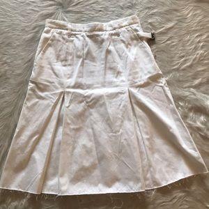 Golden Goode S.R.L. White Pleated Skirt Size M